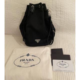 PRADA - 新品 PRADA プラダ 巾着 ポーチ バッグ  ストラップ付き 黒