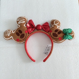 Disney - 再入荷 ミッキー&ミニー柄 クリスマスジンジャーブレッド キャンディカチューシャ