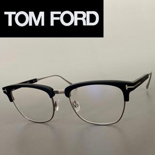 トムフォード(TOM FORD)のメガネ トムフォード サーモントブロー マットブラック シルバー メタル 黒(サングラス/メガネ)