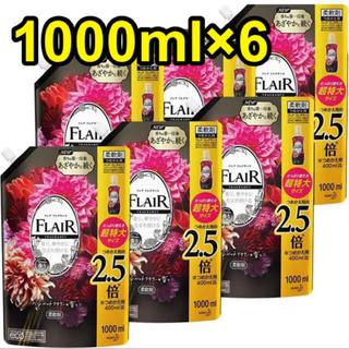 花王 - フレアフレグランス 柔軟剤 ベルベット&フラワー 1000ml 6個