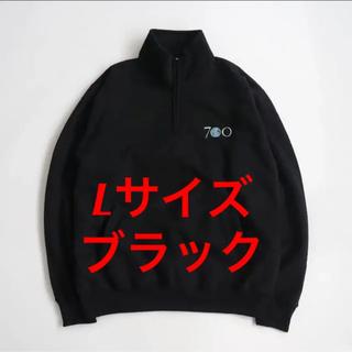 Lサイズ 黒 700FILL Half Zip Sweat スウェット