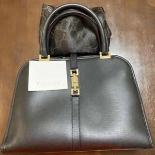 Gucci - 美品 正規品 グッチ ハンドバッグ ジャッキー 革製 黒 イタリー製