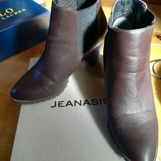 ジーナシス(JEANASIS)のジーナシス JEANASIS サイドゴアヒールブーツ ブラウン ブーツ(ブーツ)