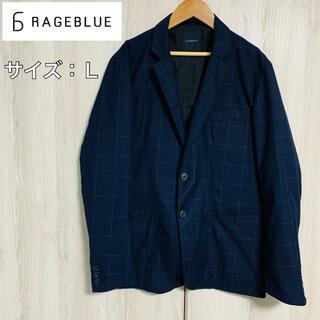 レイジブルー(RAGEBLUE)の【美品】RAGEBLUE  テーラードジャケット 紺 ネイビー(テーラードジャケット)