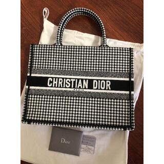 Christian Dior - [美品]Dior クリスチャンディオール ブックトート 千鳥格子 ラージ