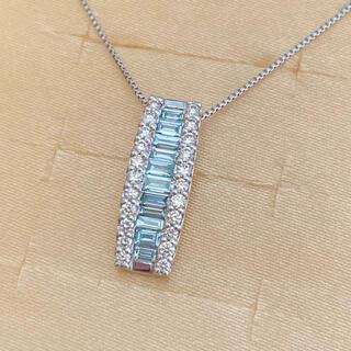 プラチナ アイスブルーダイヤ ネックレス