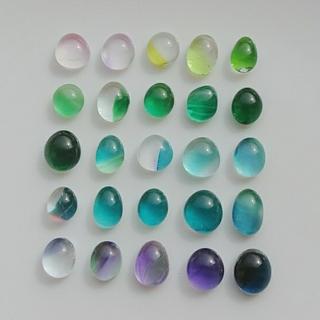 ガラス ドロップス ナギット 25粒 楕円 約5~9㎜ カラフル フリモント 7
