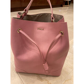 Furla - FURLA フルラ 巾着 ポーチ付きピンク バッグ