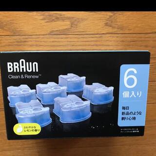 BRAUN - ブラウン アルコール洗浄液 (6個入) メンズシェーバー用1箱