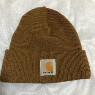 カーハート(carhartt)のcarhartt カーハート ニット帽 ブラウン 茶色(ニット帽/ビーニー)
