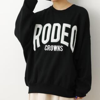 ロデオクラウンズワイドボウル(RODEO CROWNS WIDE BOWL)のweb限定 ロデオクラウンズ ボアアップリケスウェット(トレーナー/スウェット)