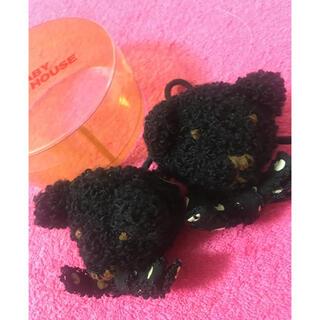 ピンクハウス(PINK HOUSE)のピンクハウス 黒クマの顔モチーフヘアゴム 2個セット(ヘアアクセサリー)