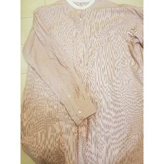 IENA - イエナ ストライプバンドカラーシャツ