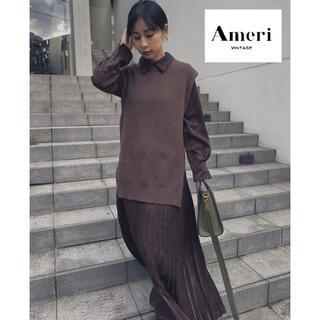 Ameri VINTAGE - 大人気!完売【AMERI】VEST WITH PLEATS DRESS