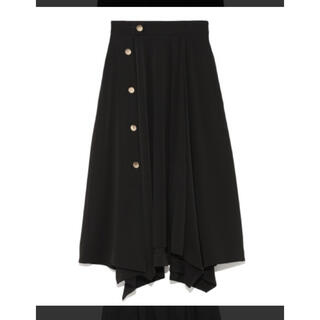 FRAY I.D - フレイアイディー サイドボタンフレアースカート 金ボタンスカート