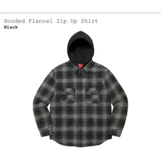 Supreme - Supreme Hooded Flannel Zip Up Shirt Mサイズ