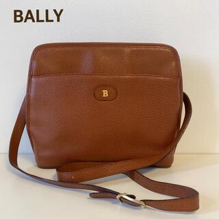 Bally - 大人気 BALLY  バリー ショルダーバッグ キャメル レザー Bロゴ
