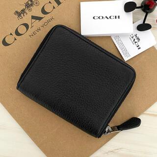 コーチ(COACH)の超最新作‼︎新品 COACH コーチ 折り財布 ペブルドレザー ブラック(折り財布)