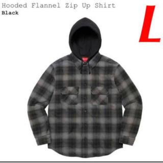 シュプリーム(Supreme)のSupreme Hooded Flannel Zip Up Shirt Lサイズ(パーカー)