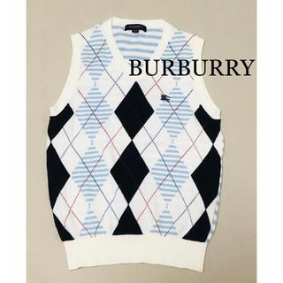 BURBERRY - バーバリー BURBURRY  ニットベスト 美品 120