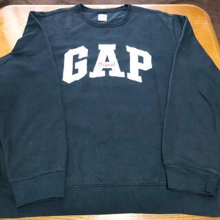 ギャップ(GAP)のGAPギャップ★ロゴトレーナー メンズLG ブラック黒(スウェット)