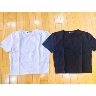 ZARA - 【新品・未使用】ZARA ザラ Tシャツ 白 黒 2点セット!!