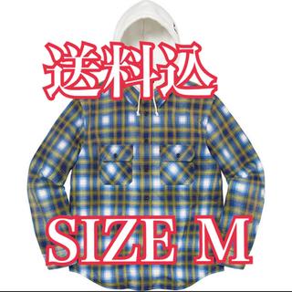 Supreme - シュプリーム hooded flannel zip up shirt M
