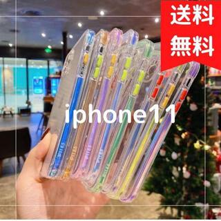 【iphone11】グリーン 大人気 韓国 iphone クリアケース