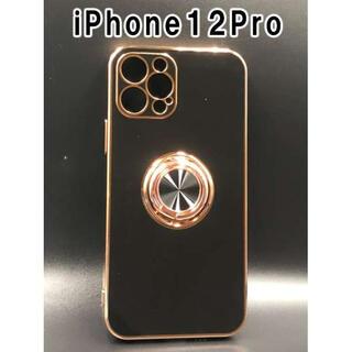 iPhone12Pro スマホケース 韓国 お洒落 シンプル 人気 黒 F