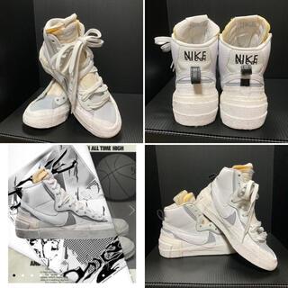 NIKE - サカイ ナイキ ブレザー ホワイト グレー SIZE:24cm