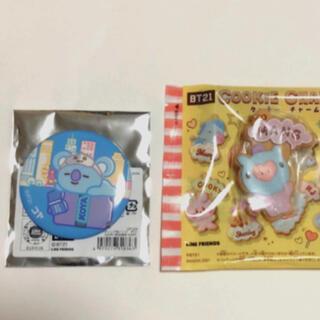BT21 クッキーチャームコットMANG  トレーディング缶バッジKOYA