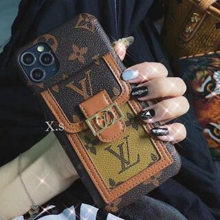 iPhone - 欧米大手iphone 13/12promaxホルダー革製カードケース