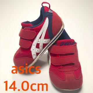アシックス(asics)のasicsアシックス スニーカー14cm 男の子靴 シューズ レッド 赤(スニーカー)