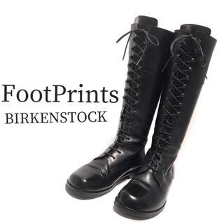 ビルケンシュトック(BIRKENSTOCK)の美品 ビルケンシュトック レースアップブーツ 黒(ブーツ)