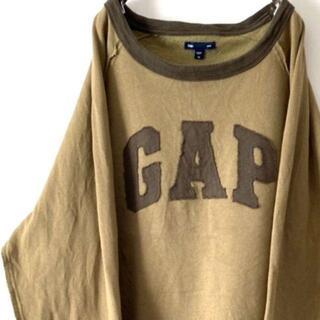 ギャップ(GAP)のオールドギャップ GAP ロゴ刺繍 スウェット カーキ XL 古着(スウェット)
