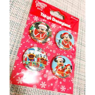 Disney - ディズニーランド クリスマスファンタジー2012 限定缶バッジ 未開封