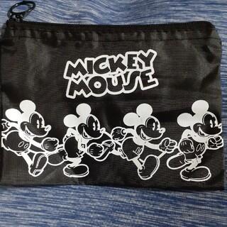 ミッキーマウス - ミッキーマウス ブラック ファスナー ポーチ ケース Mickey Mouse