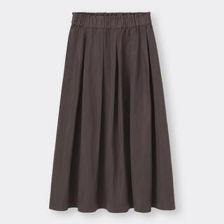 GU - GU タフタフレアミディスカート ブラウン