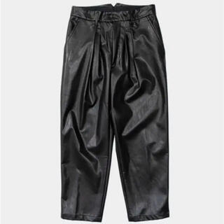 20AW EX WIDE TAPERED TROUSERS シンセティックレザー
