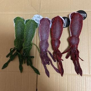 Animal Keychain アニマルキーチェーン イカ 魚 キーホルダー(ぬいぐるみ)