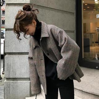 ディーホリック(dholic)の【予約販売】クラシカルチェックジャケットコート(テーラードジャケット)