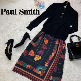 Paul Smith - 極美品♡Lサイズ♡ポールスミス ビジュー ドッキング ワンピース スカーフ柄