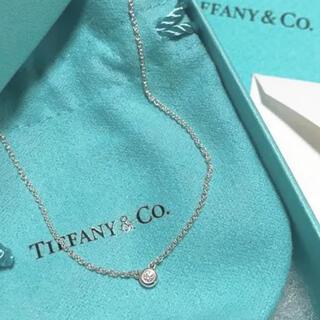 Tiffany & Co. - ティファニー新品 ダイヤモンド バイザ ヤードシングル ダイヤモンド ペンダント