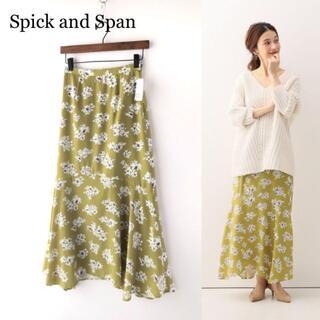 Spick and Span - 【新品】スピックアンドスパン ヘムラインフラワープリントスカート