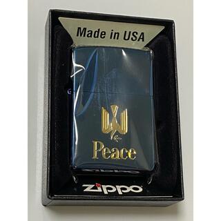 ZIPPO - zippo Peace ヴィンテージ ブルーチタン 1999年製 ピース