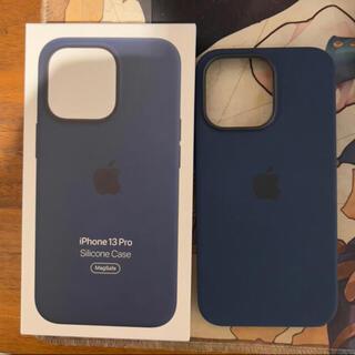 iPhone - iPhone13Pro用シリコンケース(アビスブルー)