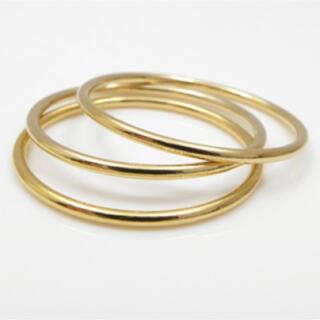 ete - 重ね付け最適 ゴールド14KGFシンプルリング 1個