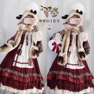最高品質ドイツレトロ赤ずきんのロリィタドレス豪華セットⓂ️(衣装一式)