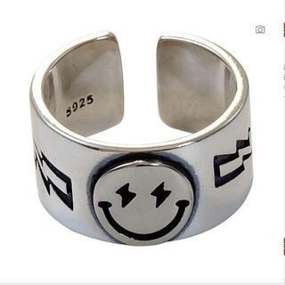 指輪 スマイル 銀色 シルバー リング ニコちゃん スマイリーフェイス S925