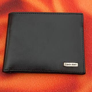 Calvin Klein - 美品 カルバンクライン Calvin Klein 2つ折り財布ブラック